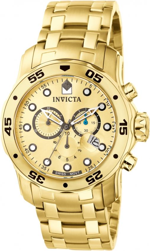 Pro Diver Chronograph Gold Invicta 0074